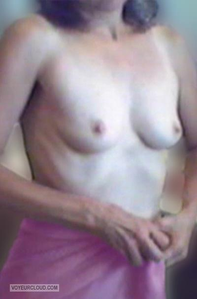 Tit Flash: Wife's Small Tits - Sara from United States