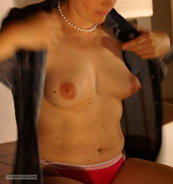 Tit Flash: Wife's Small Tits - Anne from United States