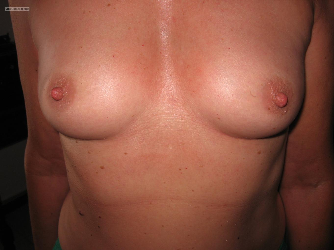 Tit Flash: Wife's Small Tits - DIane from United Kingdom