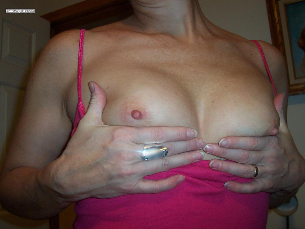 Tit Flash: Wife's Small Tits - Lulu from United States