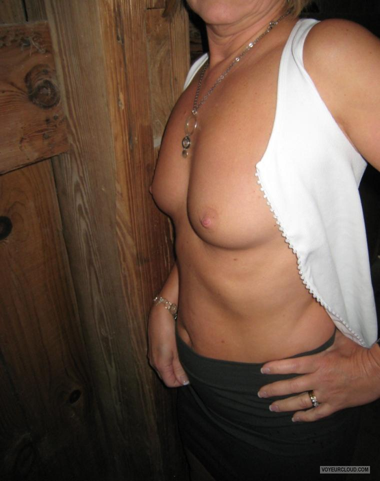 Tit Flash: Wife's Small Tits - Mrs. Playafun from United States