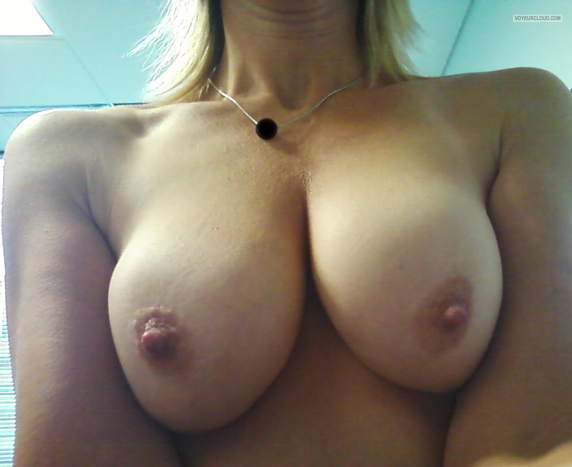 Tit Flash: Wife's Medium Tits (Selfie) - MILFEL from United States