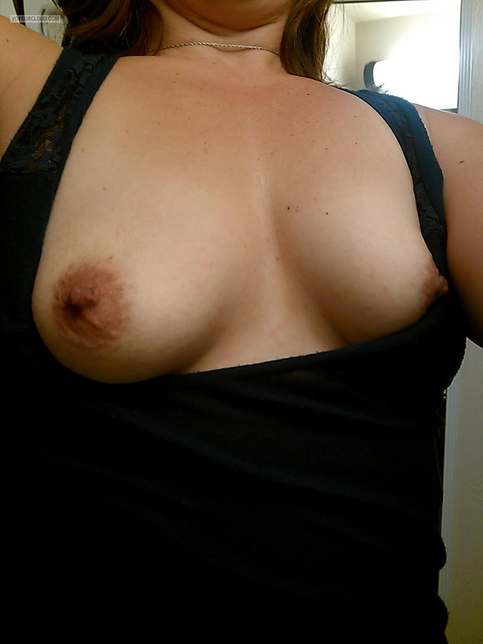 Tit Flash: My Small Tits (Selfie) - Babe5150 from United States