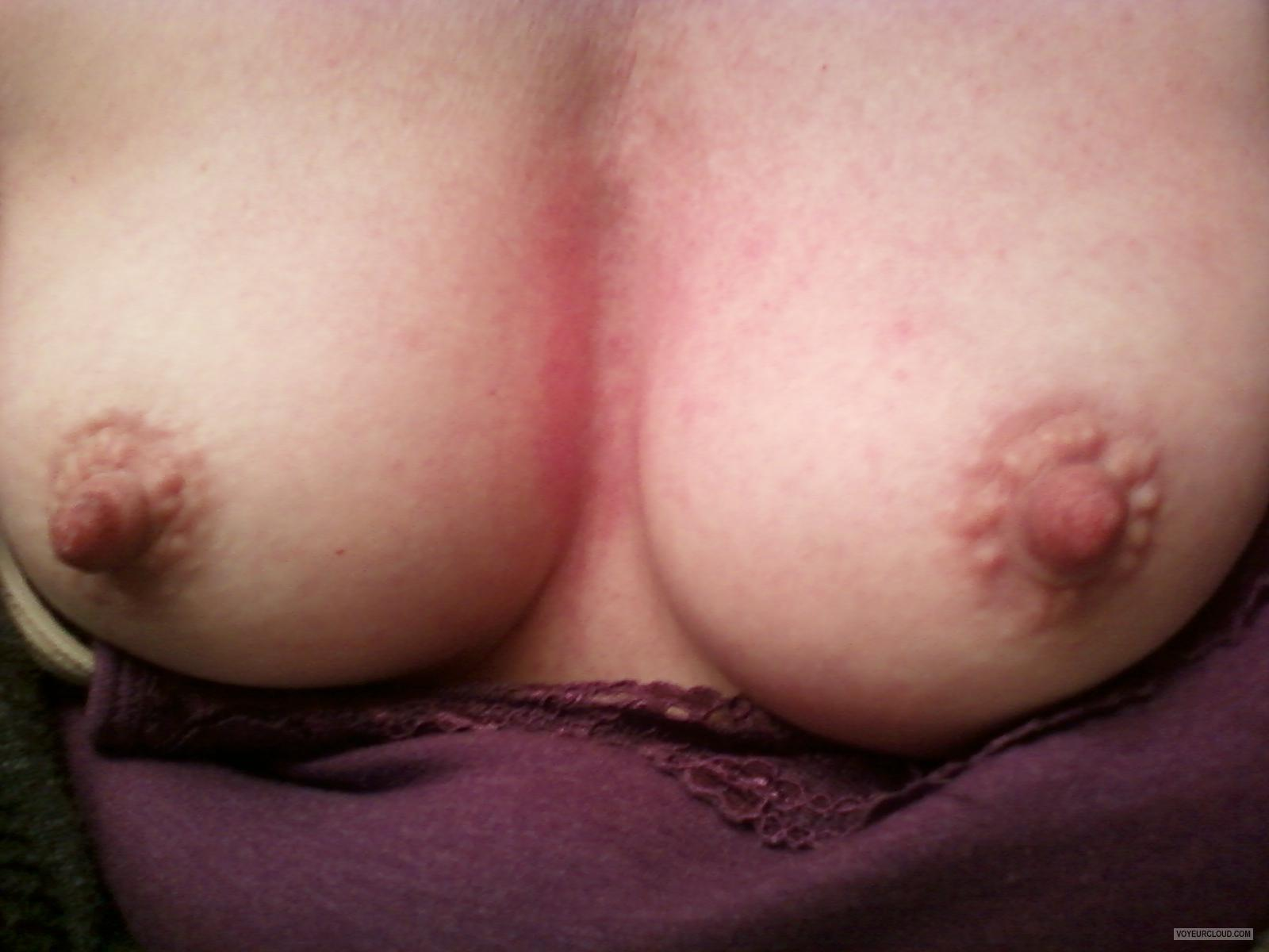 Tit Flash: Wife's Small Tits (Selfie) - Lan from Canada