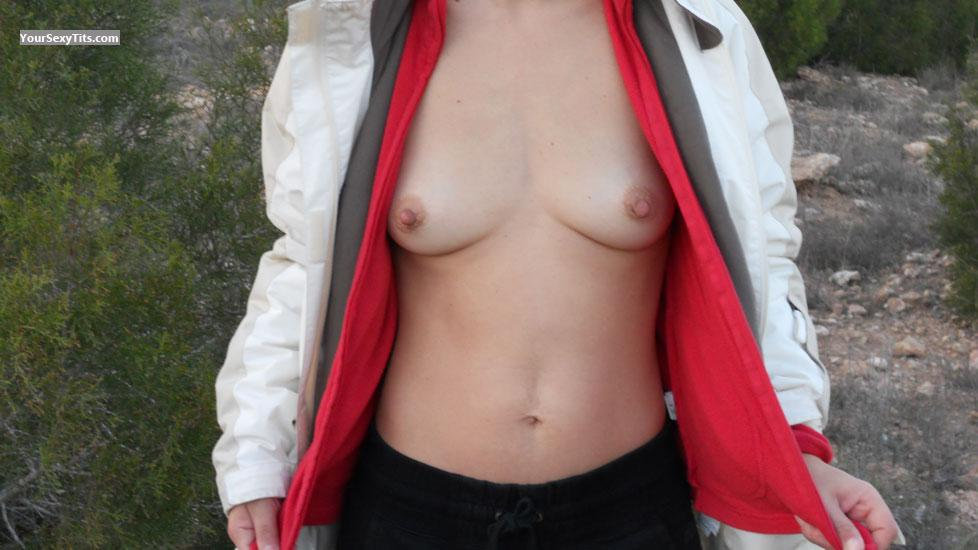 Tit Flash: Wife's Small Tits - BettyLegs from United States