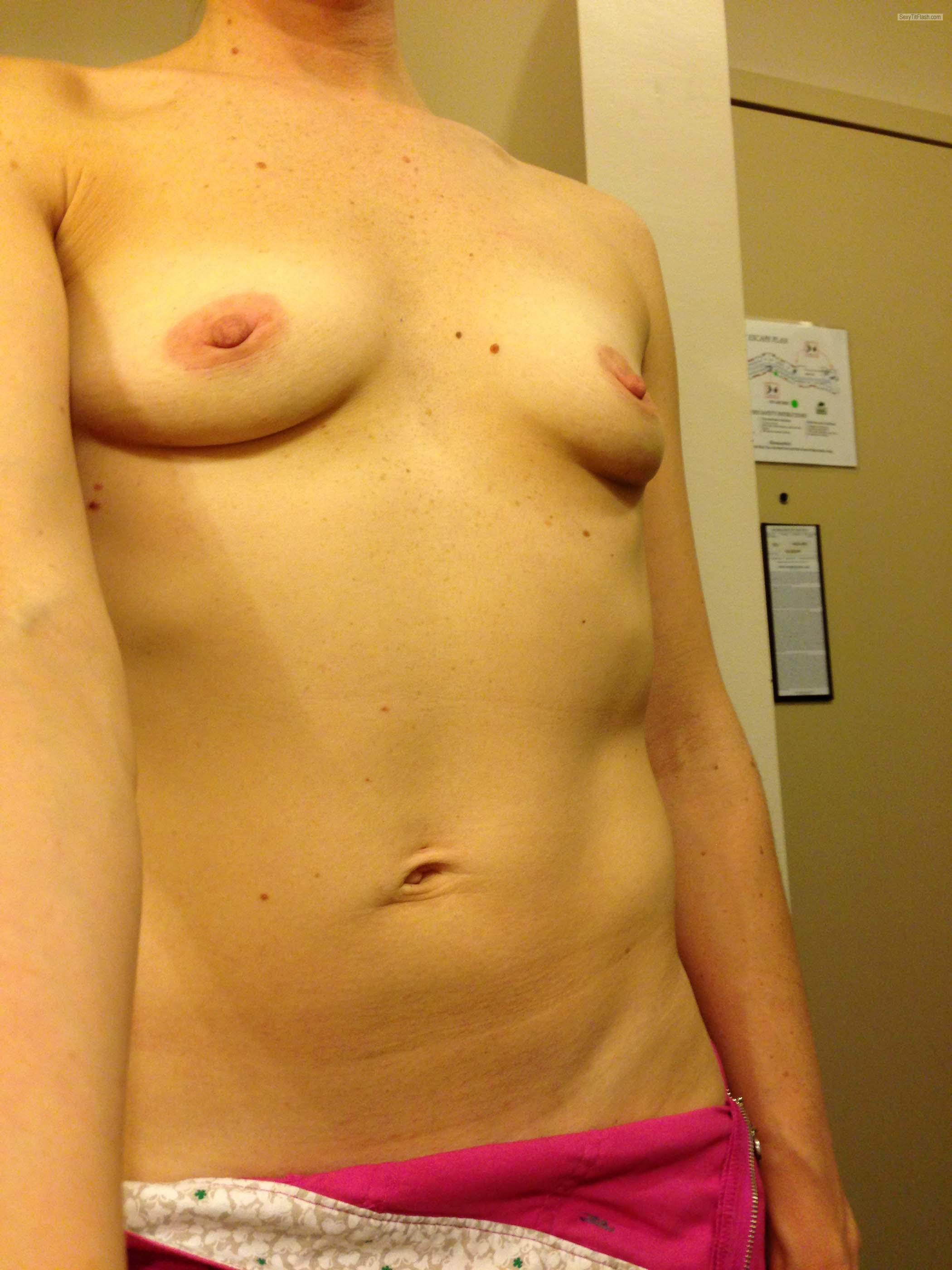 Tit Flash: My Small Tits (Selfie) - JuicyJ from United States