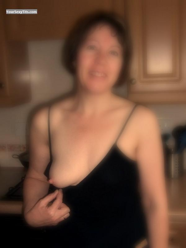 Tit Flash: Wife's Small Tits - Topless Susie from United Kingdom
