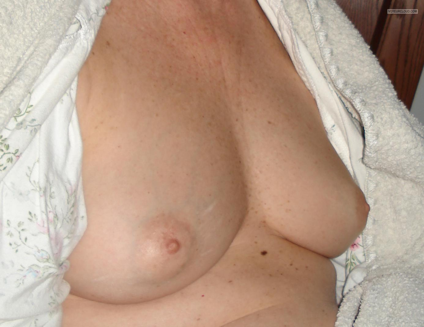 Small Tits Of My Wife Bashful Granny