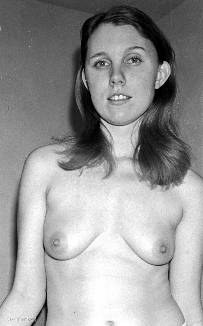 Tit Flash: My Small Tits - Topless Annmarie from United States