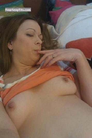Tit Flash: My Small Tits (Selfie) - Topless Boo77 from United States