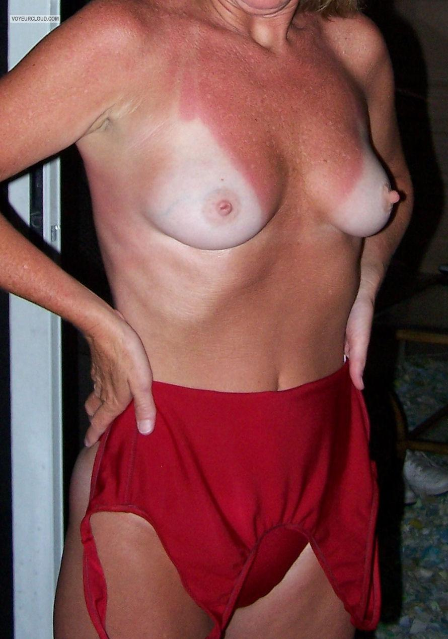 Tit Flash: My Small Tits With Strong Tanlines - Mitzi from United States