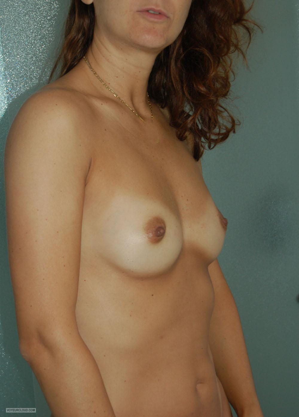 Tit Flash: Wife's Small Tits With Strong Tanlines - Grelly from Canada
