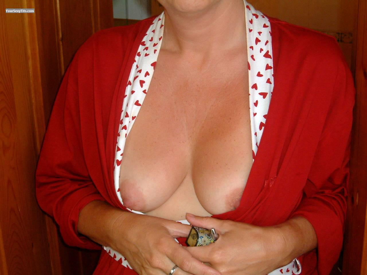 Tit Flash: Small Tits - Topless from United Kingdom
