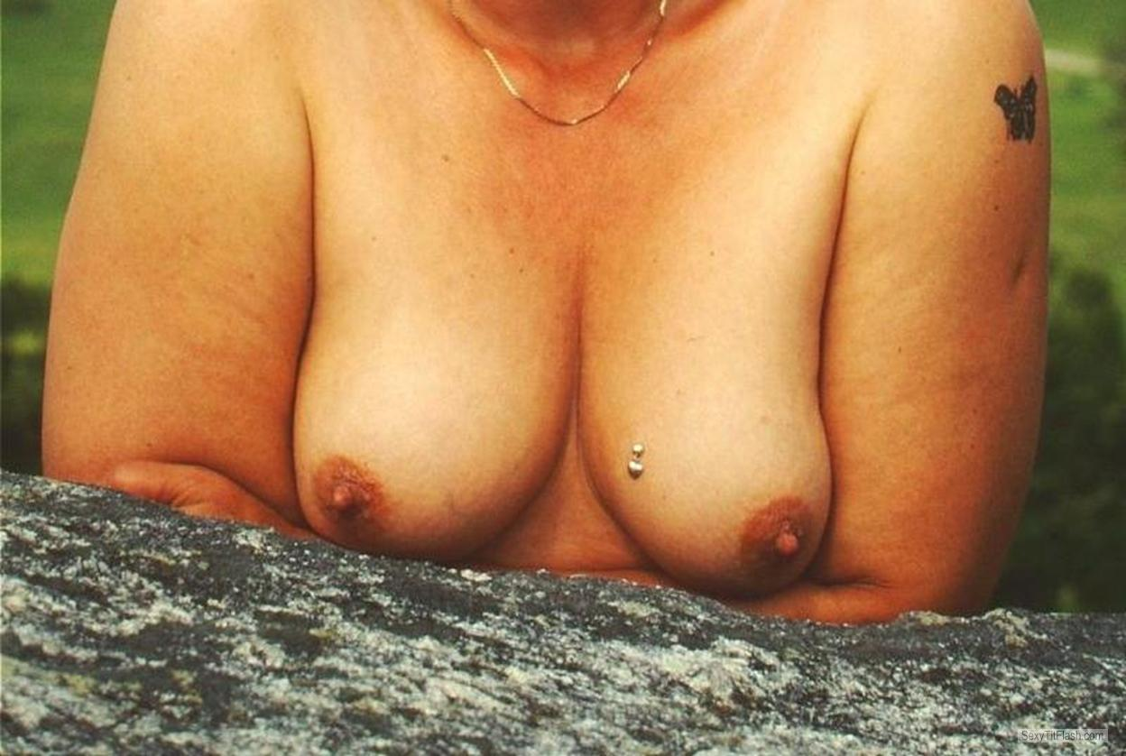 Tit Flash: My Small Tits - Strandfee from Germany