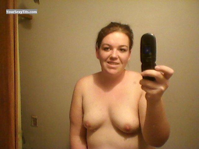 Tit Flash: My Small Tits (Selfie) - Topless Kelly from United States