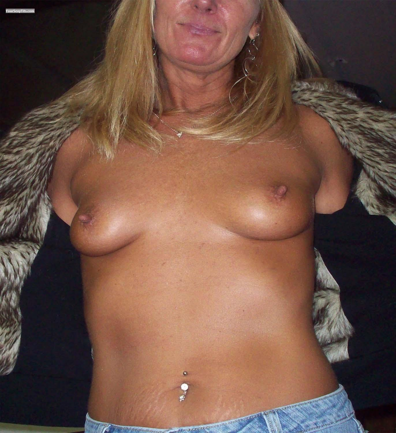 Tit Flash: Small Tits - TattooedSlut from Canada