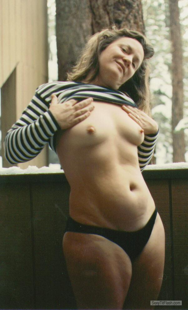 Tit Flash: My Small Tits - Topless Caroln from United States