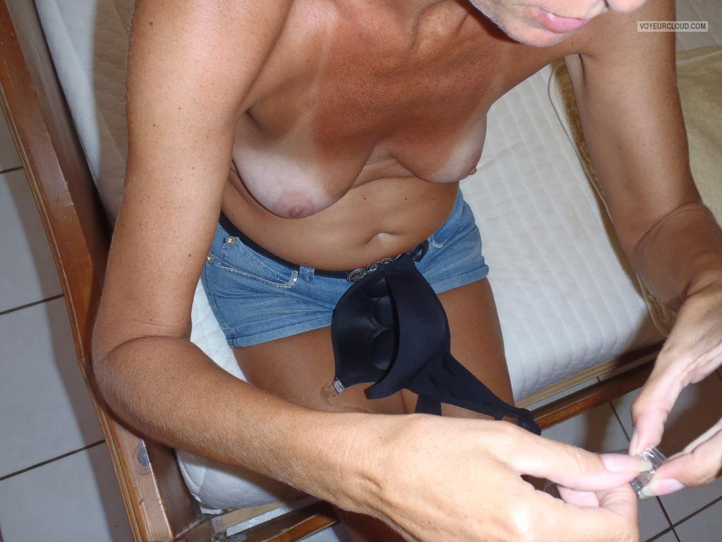 Tit Flash: Wife's Tanlined Small Tits - Onehappy2010 from Netherlands