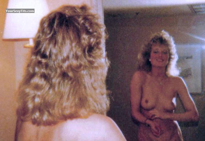 Tit Flash: Small Tits - Topless Retro Blonde from United States