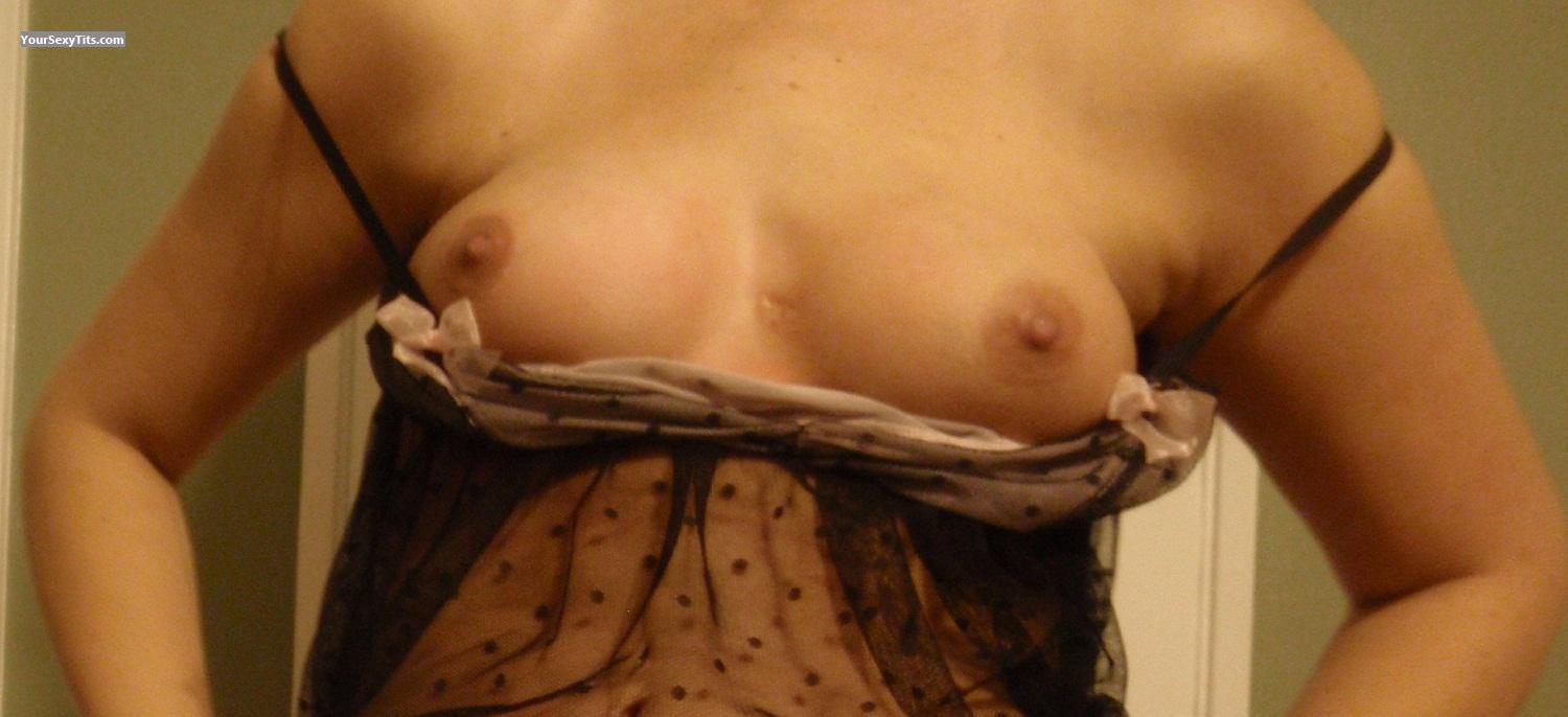 Tit Flash: Wife's Small Tits - Sweet Wife from United States