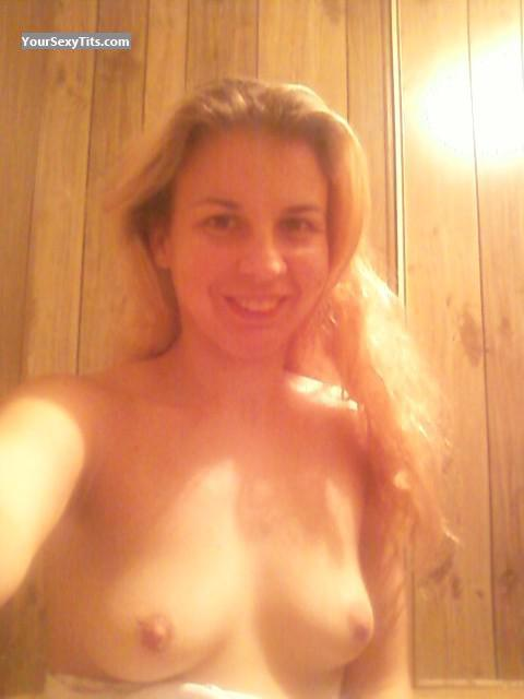 Tit Flash: My Small Tits (Selfie) - Topless Jen from United States