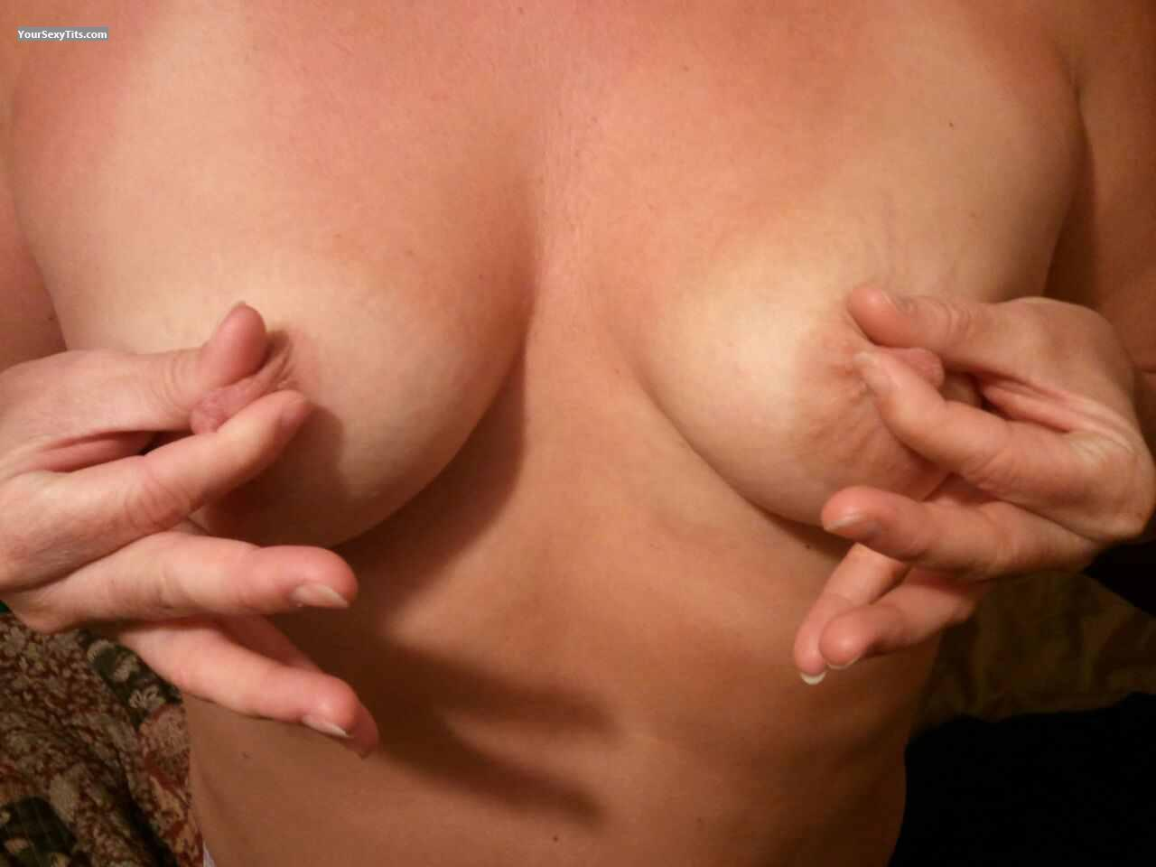 Tit Flash: Wife's Small Tits - Little Momma from United States