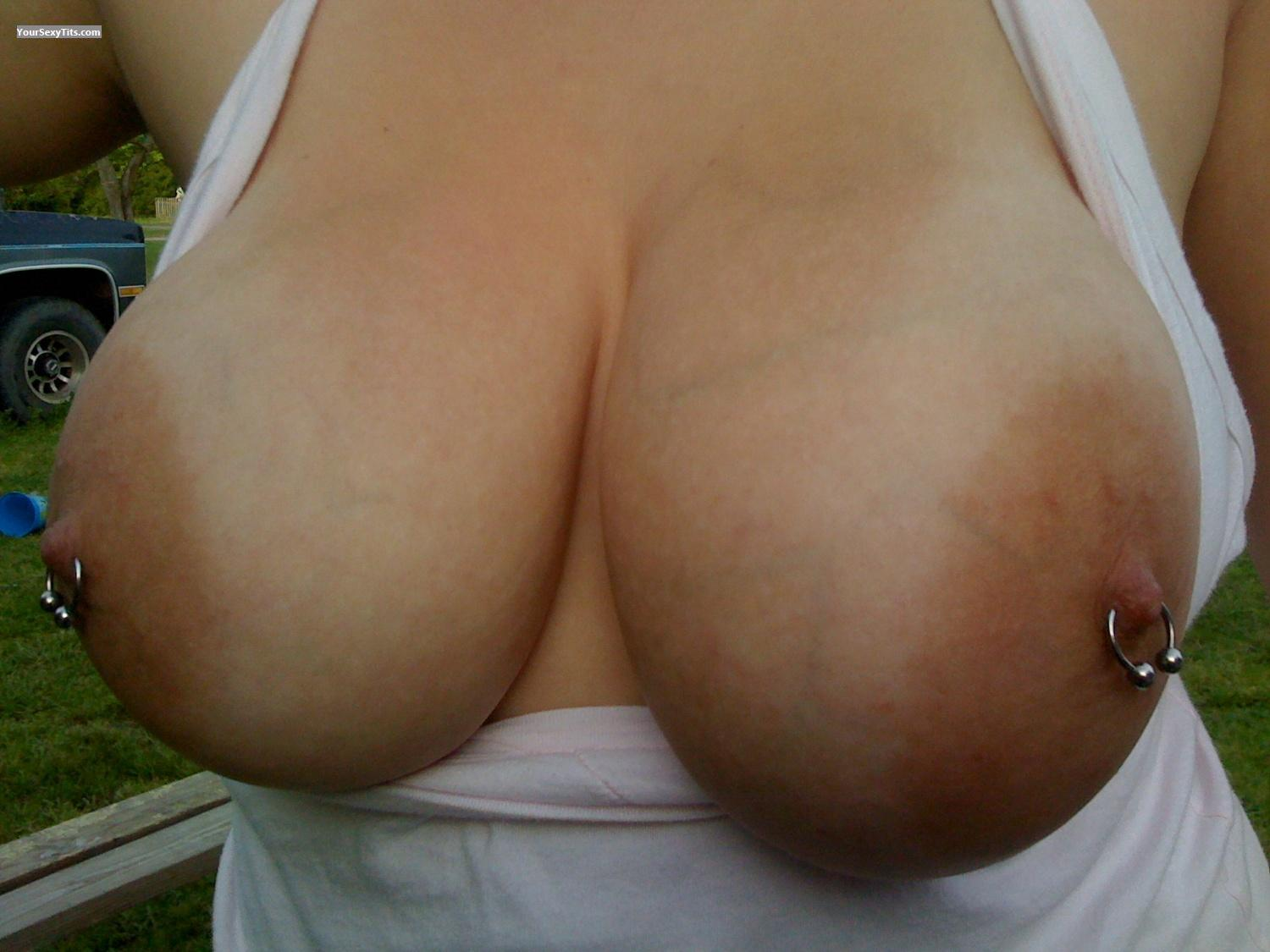 Tit Flash: Very Big Tits By IPhone - SexyG from United StatesPierced Nipples