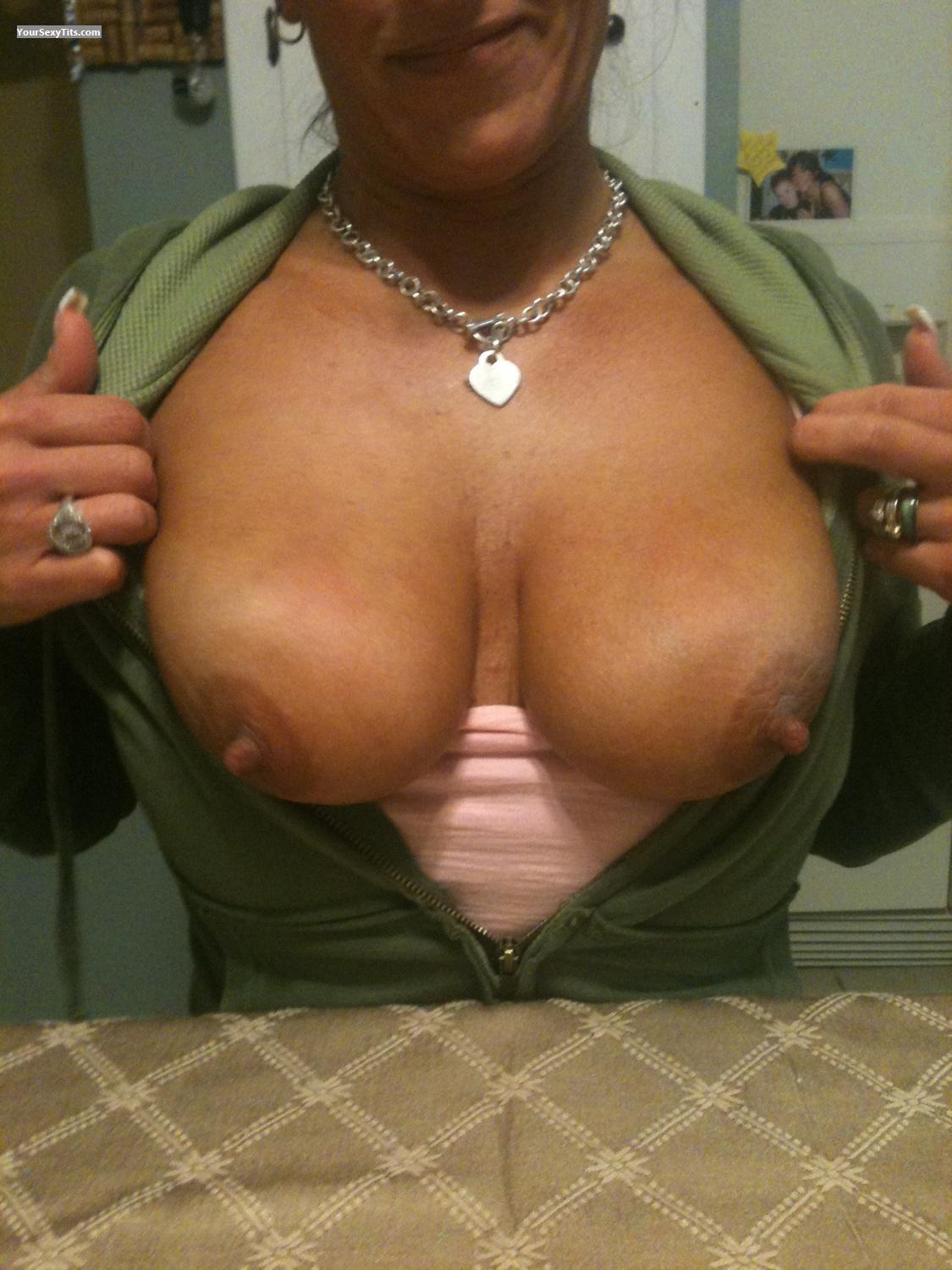 Tit Flash: Very Big Tits By IPhone - T.T. from United States