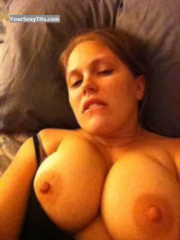 Tit Flash: Very Big Tits By IPhone - Topless Mwaaa from United States