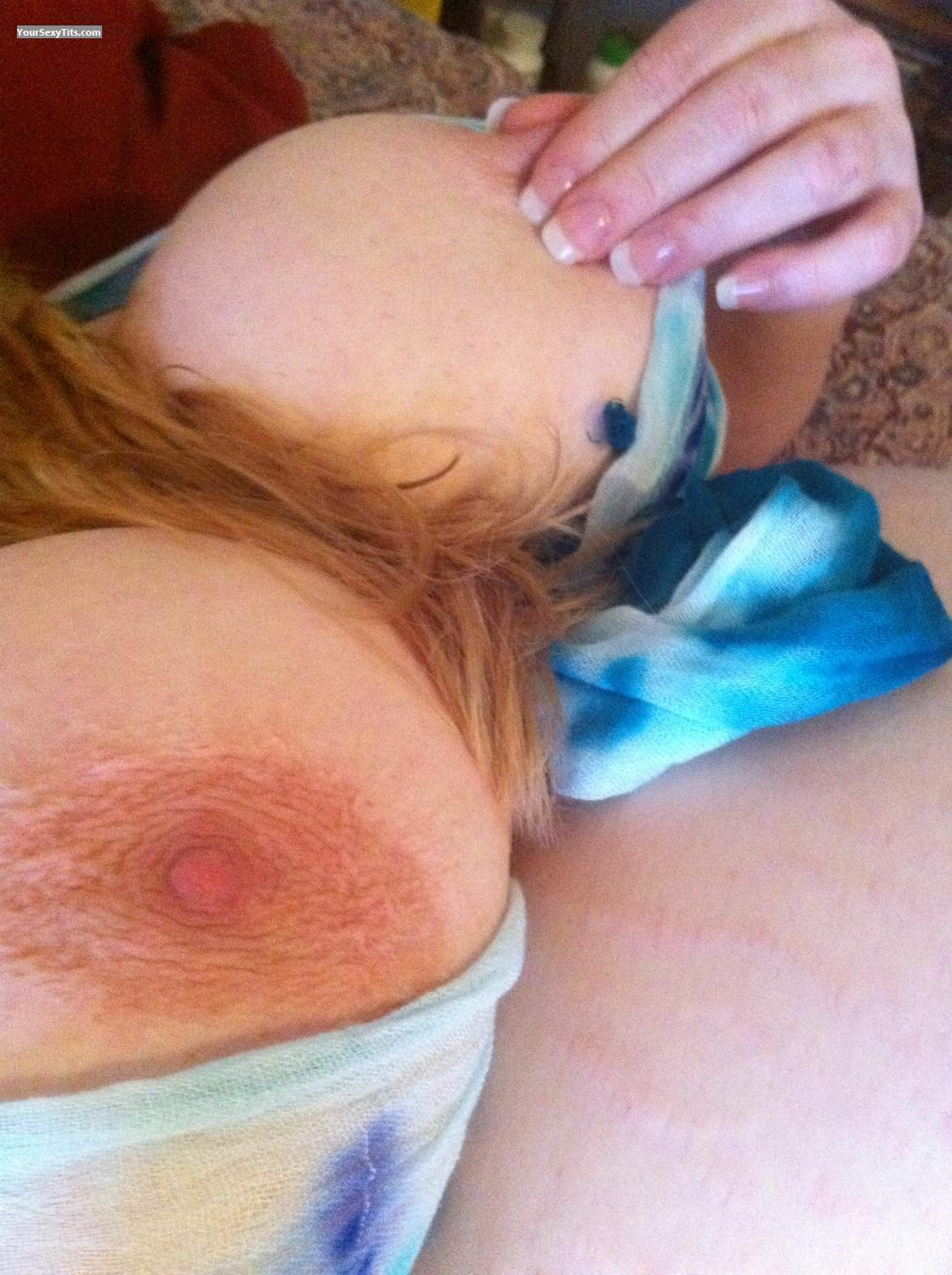 Tit Flash: My Very Big Tits By IPhone (Selfie) - Up & Out from United States