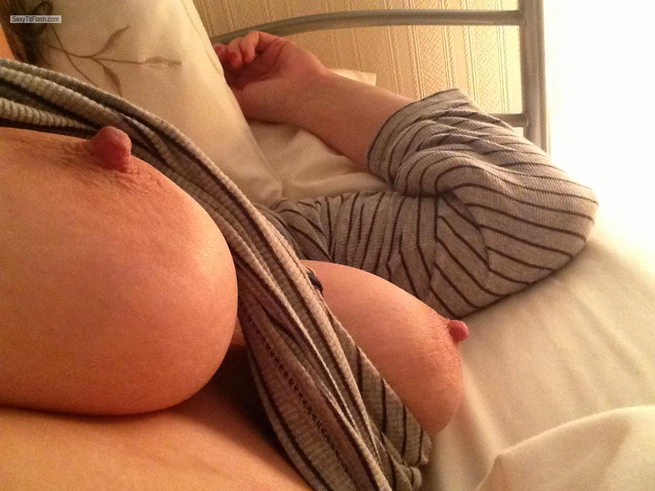 Tit Flash: My Very Big Tits By IPhone (Selfie) - Hazel from United Kingdom