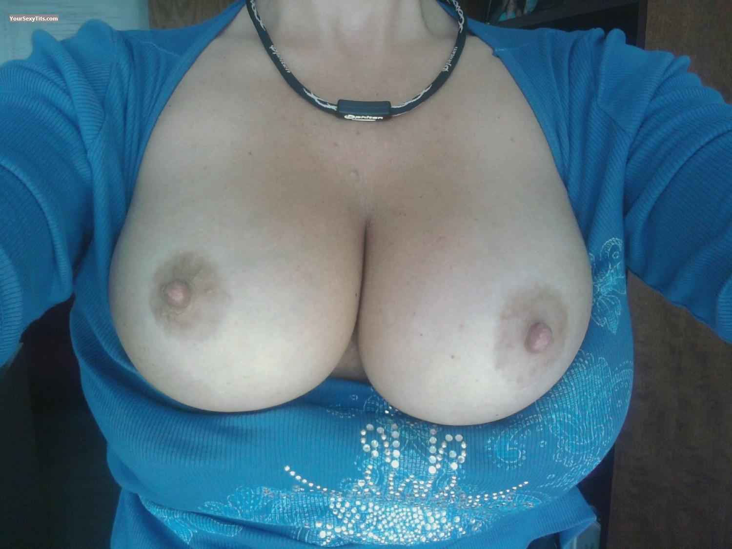 Tit Flash: My Very Big Tits By IPhone (Selfie) - Big Tease from United States