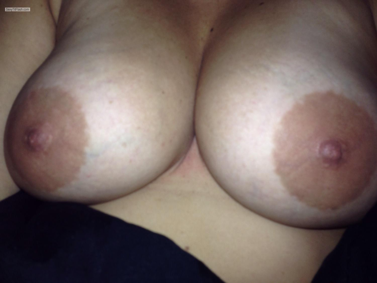 Tit Flash: My Very Big Tits By IPhone (Selfie) - Big from United States