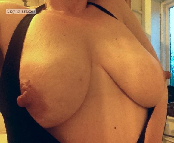 Tit Flash: Very Big Tits By IPhone - Latex Diva from United States