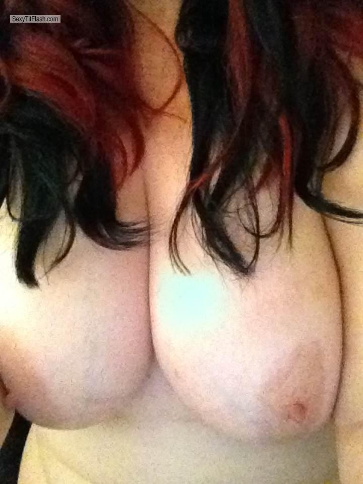 Tit Flash: My Very Big Tits By IPhone (Selfie) - Cougar from United Kingdom