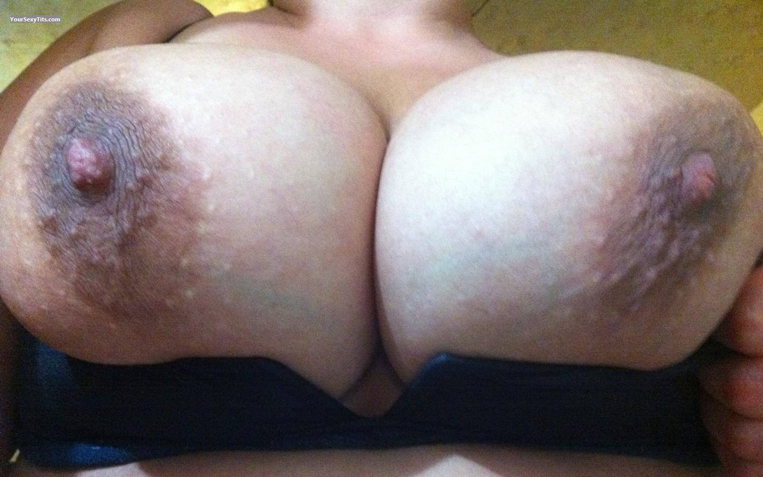 Tit Flash: My Very Big Tits By IPhone (Selfie) - Lady Dee from United States