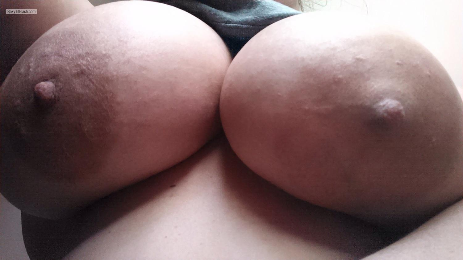 Tit Flash: My Very Big Tits By IPhone (Selfie) - DDwife from United States
