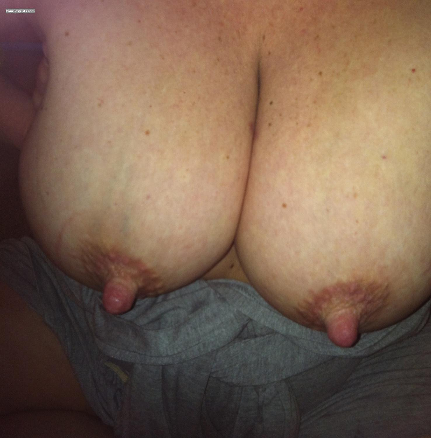 Tit Flash: Very Big Tits By IPhone - 41 Y/o Milf from United States