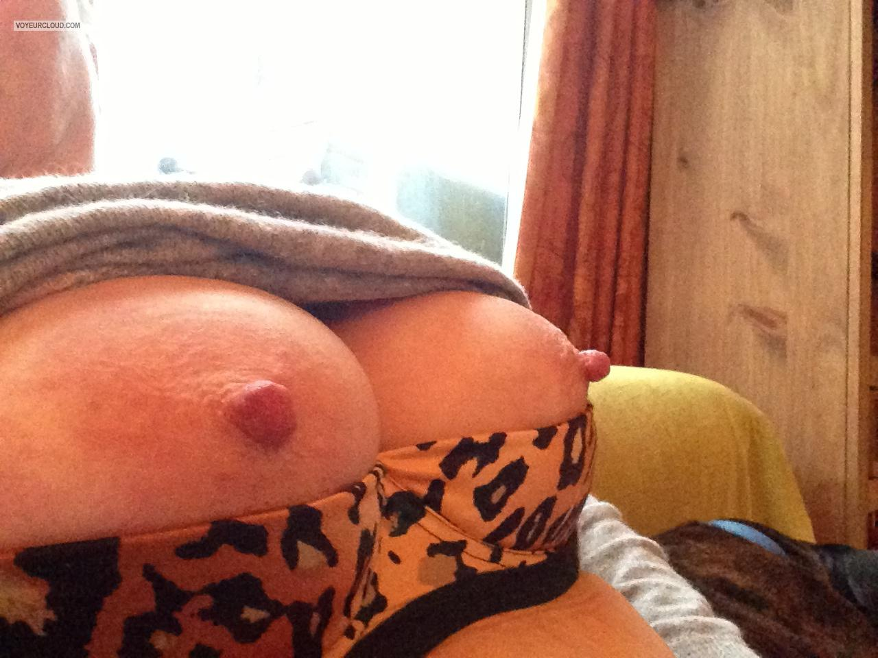 Tit Flash: My Medium Tits By IPhone (Selfie) - Hazel from United Kingdom