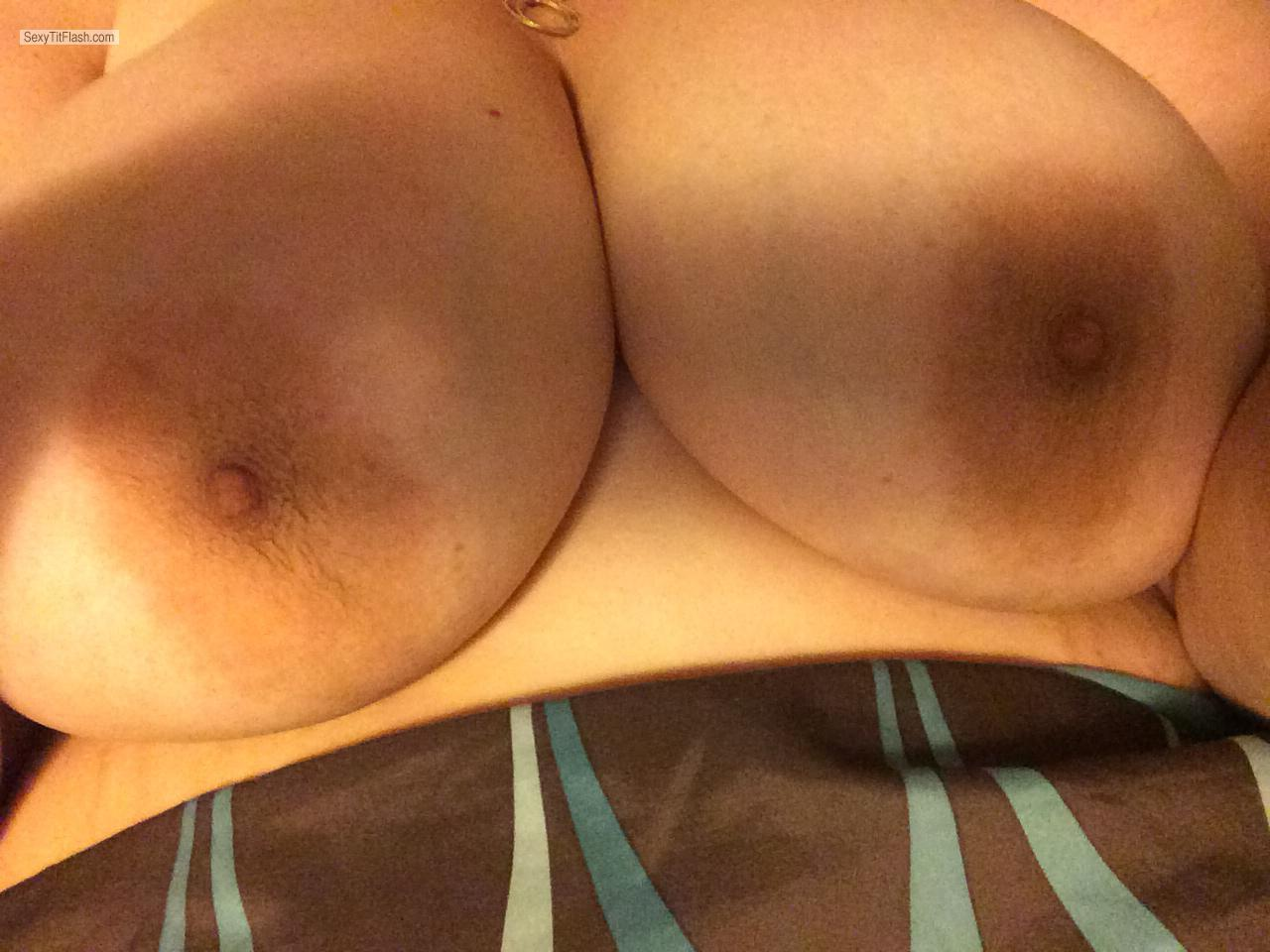Tit Flash: My Very Big Tits By IPhone (Selfie) - LovelyTitz from United States