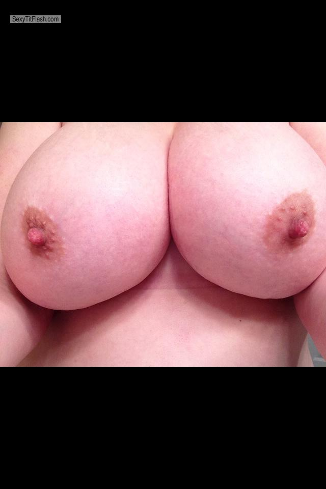 Tit Flash: My Very Big Tits By IPhone (Selfie) - Marie from United States