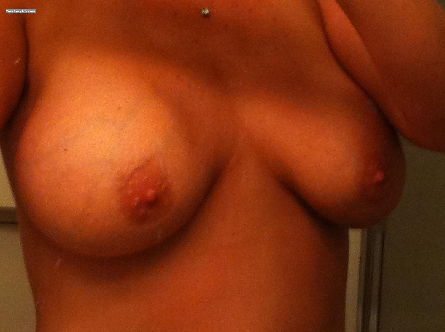 Tit Flash: My Very Big Tits By IPhone (Selfie) - Gina from United States