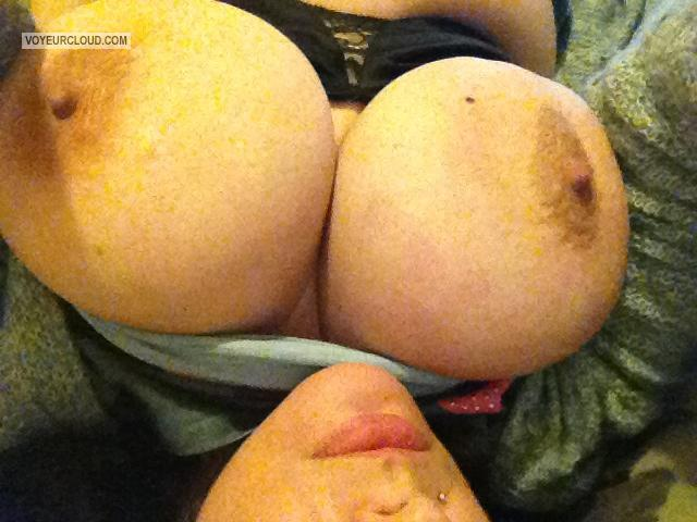 Tit Flash: My Very Big Tits By IPhone (Selfie) - Joie from United States