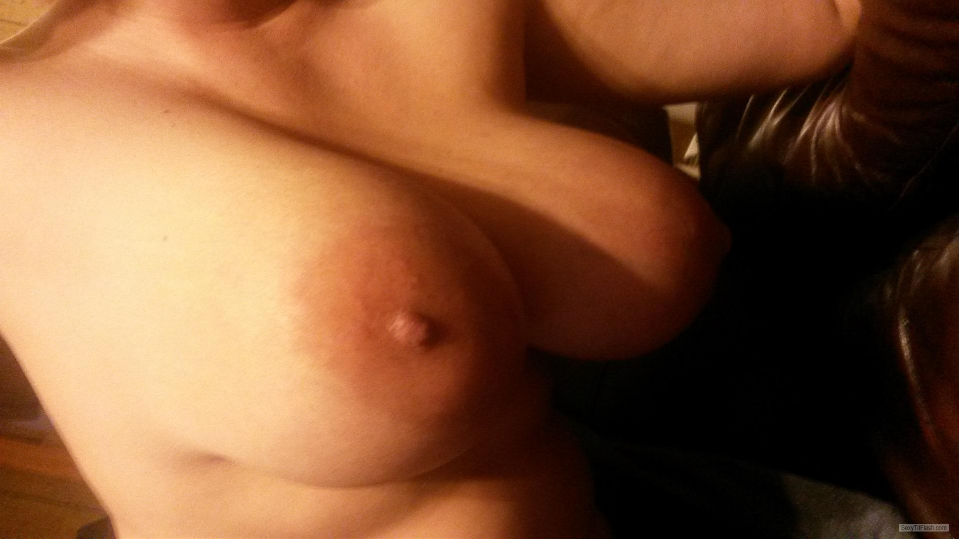 Tit Flash: My Very Big Tits - Home Grown from United Kingdom