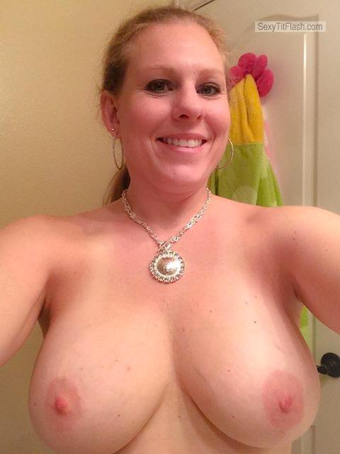 Tit Flash: My Very Big Tits (Selfie) - Topless Ginger from United Kingdom