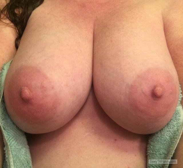 Tit Flash: My Very Big Tits (Selfie) - Redhead 47 from United Kingdom