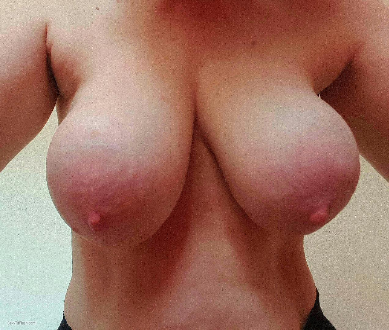 Tit Flash: My Very Big Tits (Selfie) - Topleds from United Kingdom
