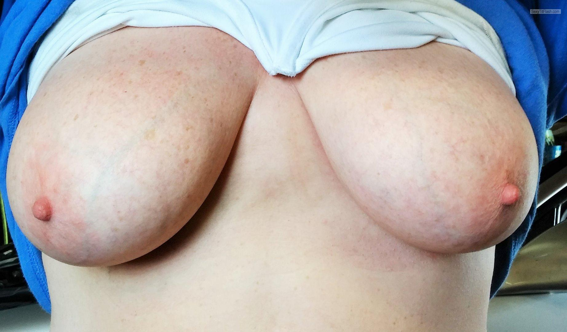 Very big Tits Of A Friend Natural Funbags