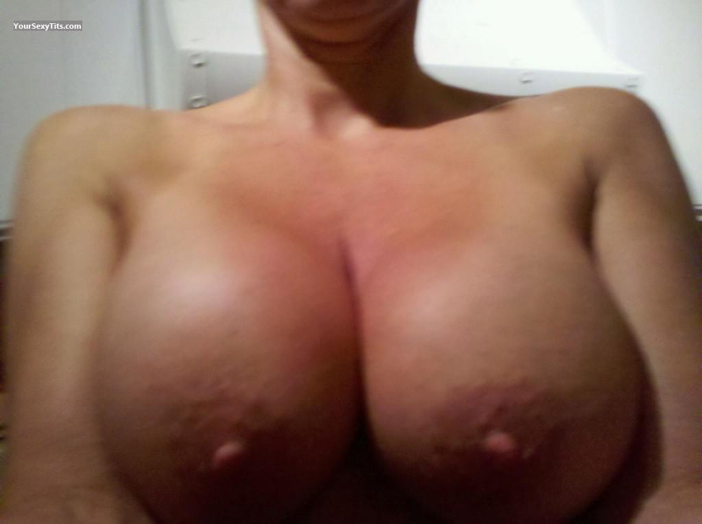 Tit Flash: Wife's Very Big Tits - George13 from United States