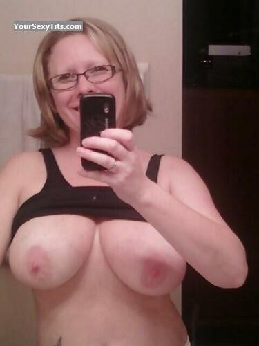 Tit Flash: My Very Big Tits (Selfie) - Debbie from United States